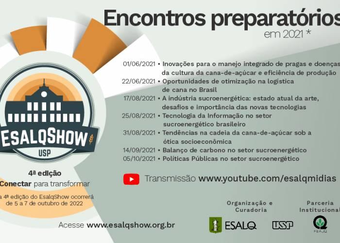 EsalqShow terá encontros preparatórios a partir de junho de 2021 - EsalqShow