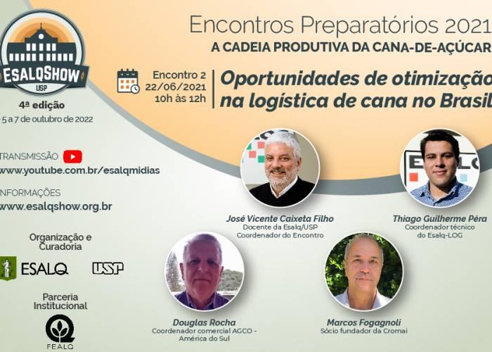 Oportunidades de otimização na logística de cana no Brasil é o tema do 2º Encontro Preparatório do EsalqShow - EsalqShow